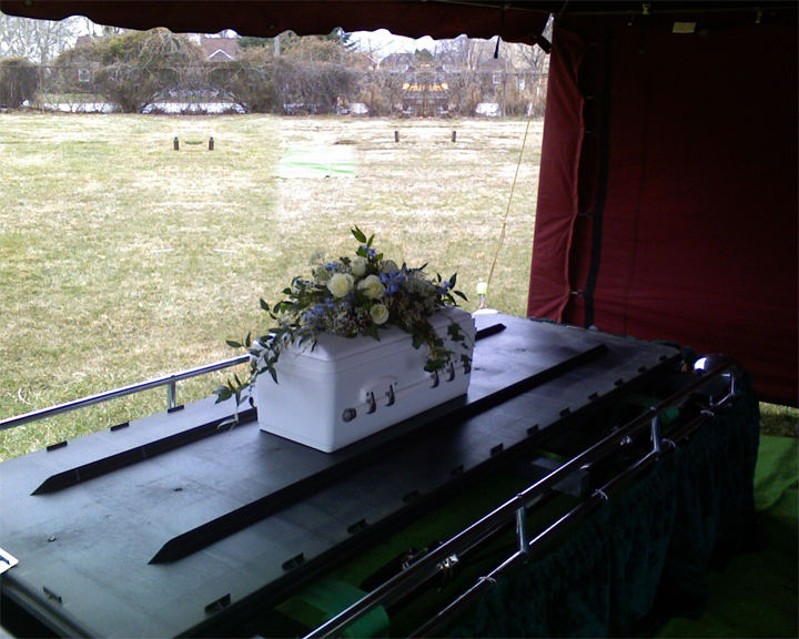 Ben's Casket, my dad took this with his cell phone
